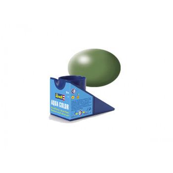 Аква-краска оливково-зеленая, шёлк