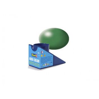 Аква-краска зеленая шелковисто-матовая