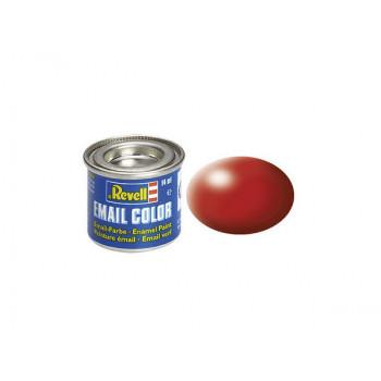 Краска огненно-красная РАЛ 3000 шелково-матовая
