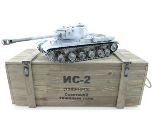 Радиоуправдяемый танк Taigen ИС-2 модель 1944, СССР, (для ИК танкового боя), деревянная коробка 1:16