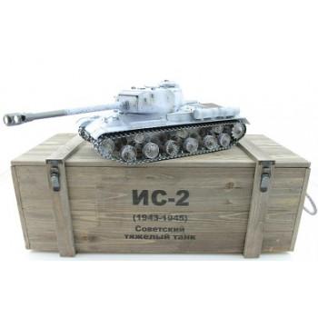 Радиоуправляемый танк Taigen ИС-2 модель 1944, СССР, зимний, деревянная коробка RTR 1:16 2.4G