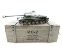 Радиоуправляемый танк Taigen ИС-2 модель 1944, СССР (для ИК танкового боя), деревянная коробка 1:16