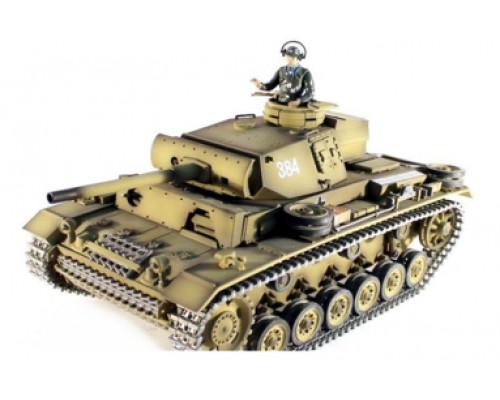 Радиоуправляемый танк Taigen 1:16 Panzerkampfwagen III HC 2.4 Ghz (пневмо)