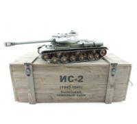 Радиоуправляемый танк Taigen ИС-2 (1944, СССР, зеленый) 1:16 2.4GHz деревянная коробка