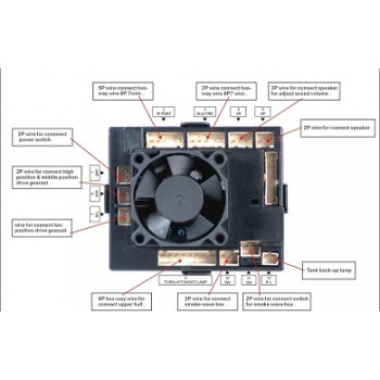 Блок электроники Taigen со встроенным приемником на 2.4G
